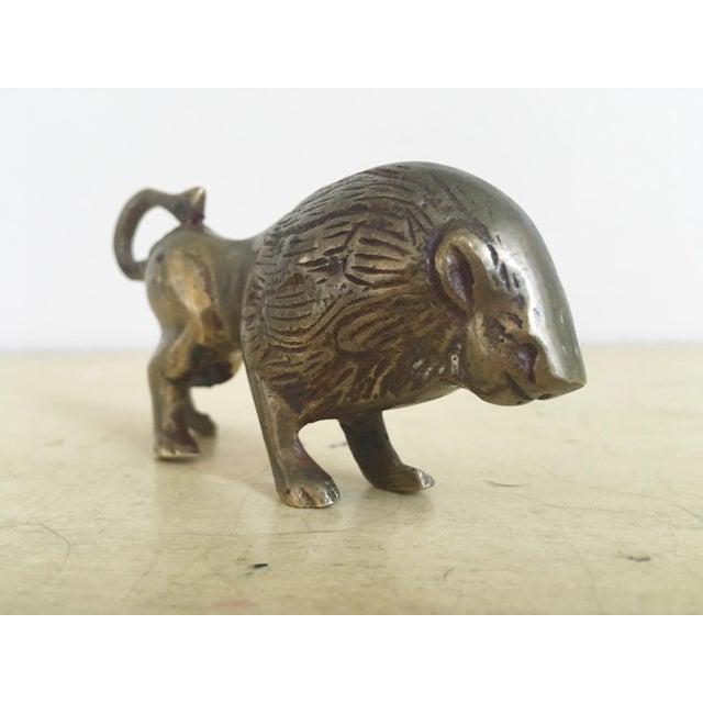 Hollywood Regency Brass Lion Figurine - Image 3 of 7