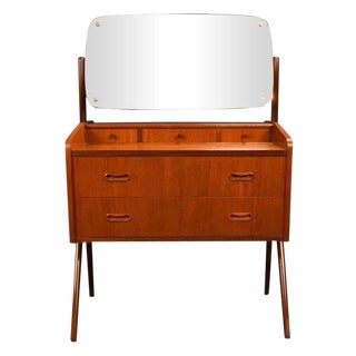 1960s Danish Modern Arne Vodder Teak Vanity For Sale
