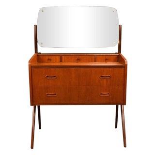 1960s Danish Modern Arne Vodder Teak Vanity