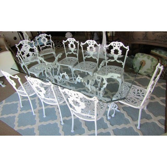Iron & Glass Patio Set - Set of 11 - Image 2 of 8