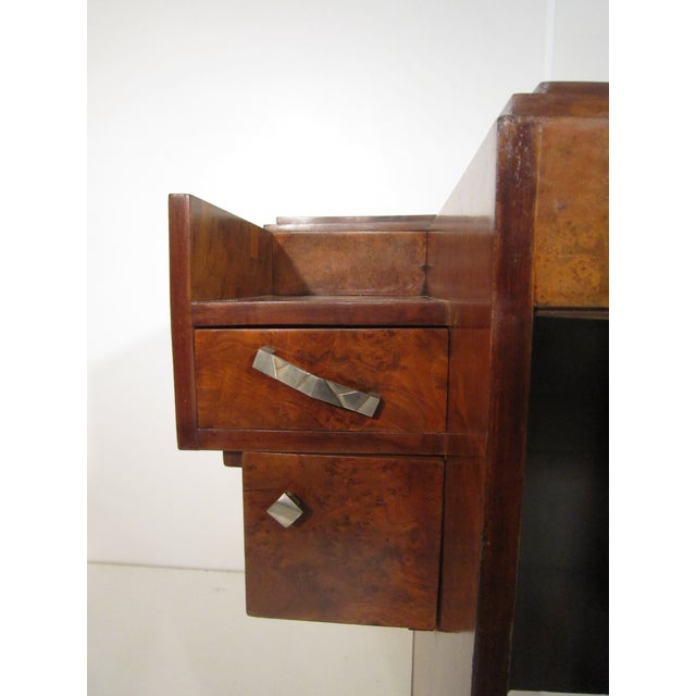Early 20th Century French Art Deco Writing Vanity Desk For Sale - Image 10 of 13