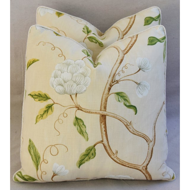 Designer Cowtan & Tout Snow Tree Linen Pillows - A Pair For Sale In Los Angeles - Image 6 of 6