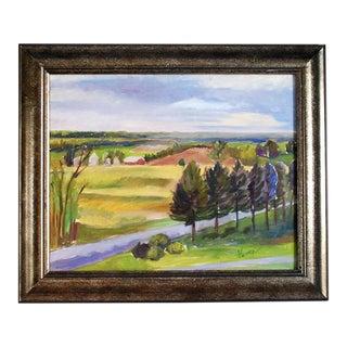 "Original ""Balducci Vineyards"" Plein Air Oil Painting For Sale"