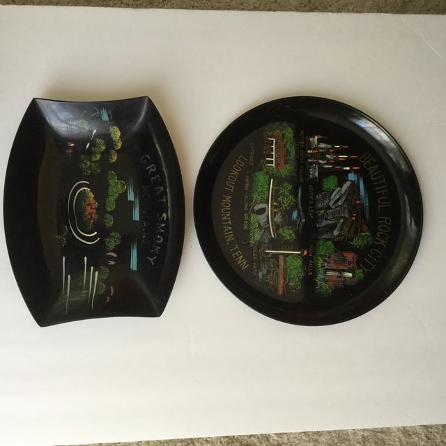 Tennessee Mid-Century Souvenir Trays - A Pair For Sale In Birmingham - Image 6 of 11