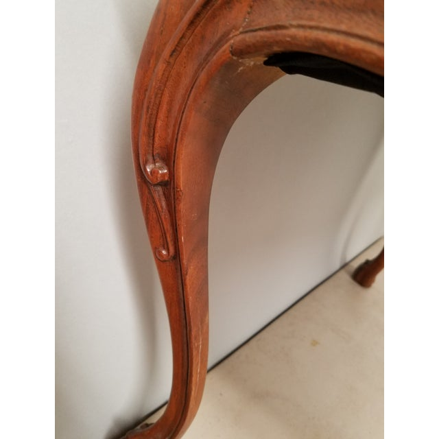 Wood 1930s French Country Walnut Bench With Hoof Feet For Sale - Image 7 of 8
