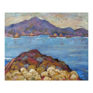 Carmel Seascape, Oil on Canvas Painting, 20th Century