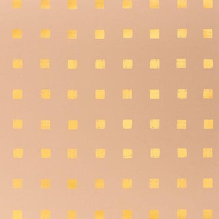Designer Groundworks Chalet Shell/Gold Wallpaper Rolls - A Pair For Sale