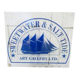 Sweetwater & Salt Tide Art Gallery Acrylic Sign For Sale