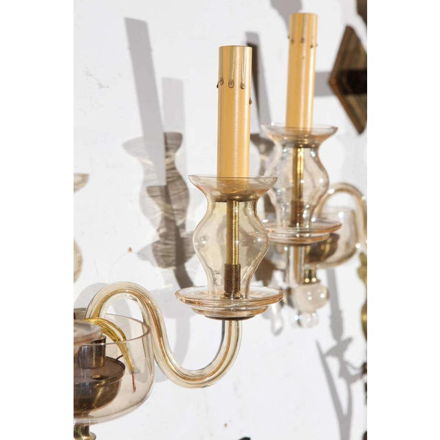 Art Deco Vintage Italian Murano Glass Sconces - A Pair For Sale - Image 3 of 7