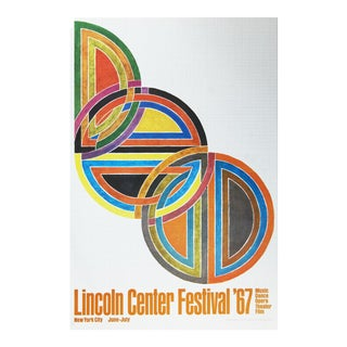 Frank Stella, Lincoln Center Festival, Offset Lithograph, 1967 For Sale