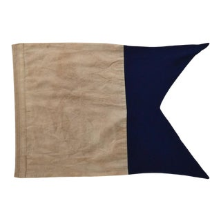 """A"" Letter Blue & White Coastal Signal Flag Framed For Sale"
