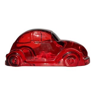 Shlomi Haziza Red Lucite Car Sculpture For Sale