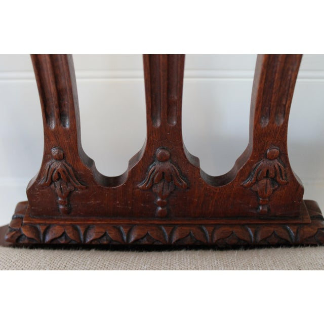 Wood Mahogany Chinese Chippendale Hall Chairs - A Pair For Sale - Image 7 of 10