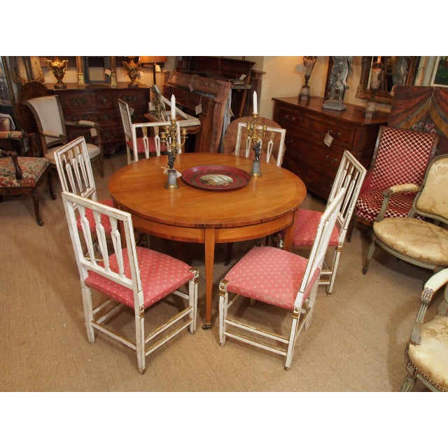 19th Century Italian Dining Room Chairs, Set of Eight