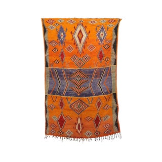 "Taznakht Vintage Moroccan Rug, 5'3"" X 8'6"" Feet"