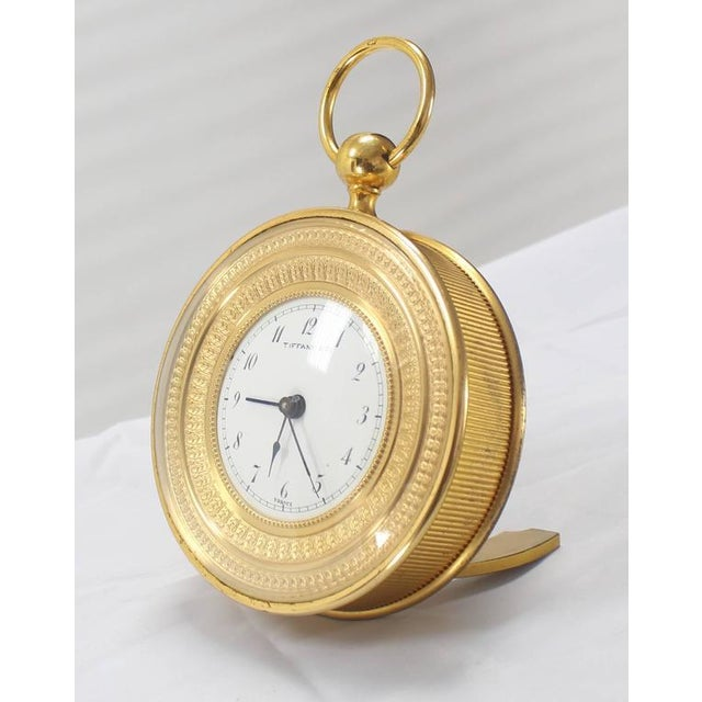 Early 20th Century Tiffany Vintage Bronze Travel Alarm Clock For Sale - Image 5 of 7