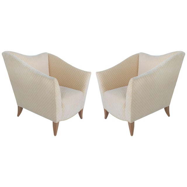 Sculptural Upholstered Club Chairs Attributed to Donghia - a Pair For Sale - Image 11 of 11