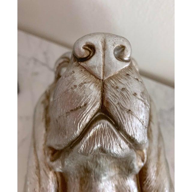 Late 20th Century Labrador Golden Retriever Dog Head Figurine Bust For Sale - Image 5 of 9