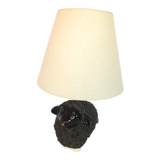 Handmade Black Ceramic Sheep Lamp For Sale