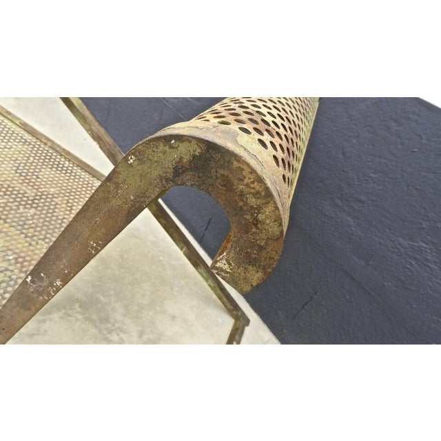 Jean Royere Early Rarest Documented Perforated Iron Lounge Chair For Sale - Image 11 of 12