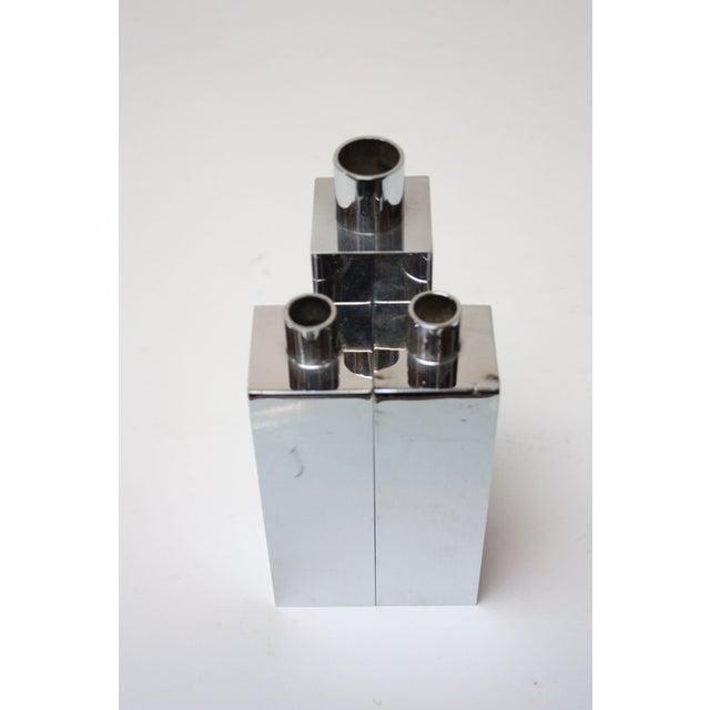 Hans-Agne Jakobsson Swedish Chrome-Plated Candle Holders - Set of 3 - Image 4 of 11