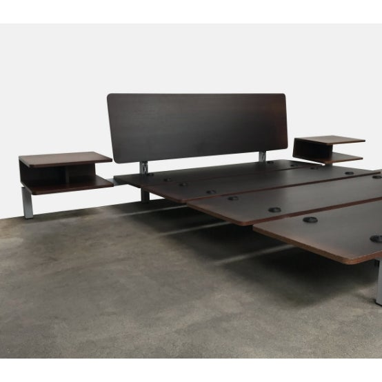 Minimalism Minimalistic Cassina Wood Xen Platform Queen Bed With Side Tables For Sale - Image 3 of 4