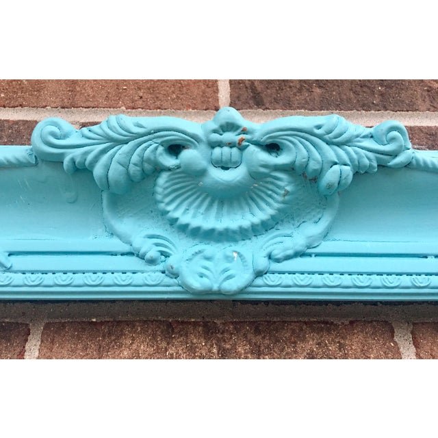 Antique Tiffany Blue Plaster Picture Frame - Image 5 of 10