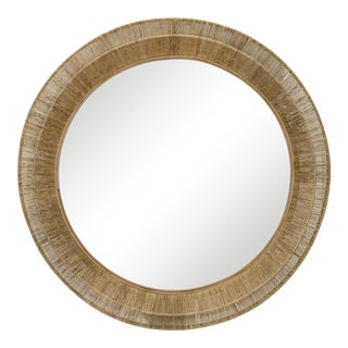 Boho Chic Natural Woven Large Mirror For Sale