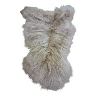 Gambrell Renard Stone Sheepskin Rug / Throw For Sale