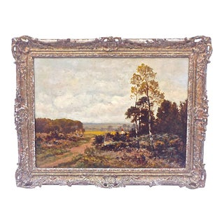 19th Century Antique French Landscape Painting For Sale