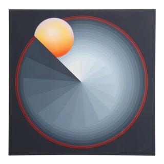 Sun Dial, OP Art Screenprint by Patrice Breteau For Sale
