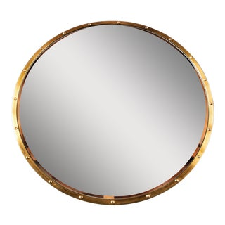 Nautical Brass Frame Mirror For Sale