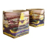 Image of Set of Two Abstract Ceramic Vases or Plant Vessels For Sale