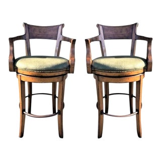 Sterling Collection English Bar Stools - A Pair For Sale