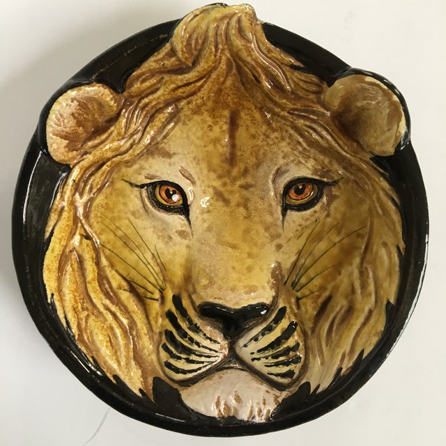 Mid-Century Italian Hollywood Regency Lion Decorative Bowl/Catchall For Sale - Image 11 of 11