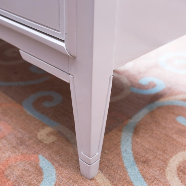 Vintage 3-Door White Lacquer Console - Image 4 of 6