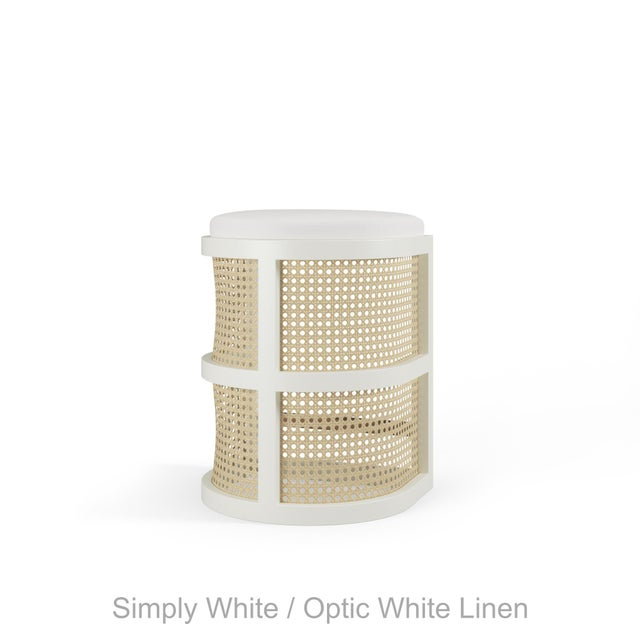 Not Yet Made - Made To Order Isabella Counter Stool - Simply White, Optic White Linen For Sale - Image 5 of 5