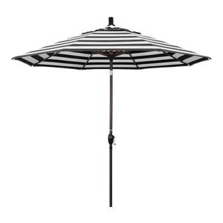 Casa Cosima 9' Riviera Patio Umbrella With Bronze Aluminum Pole in Sunbrella Cabana Classic Fabric