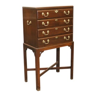 Ethan Allen Georgian Court Cherry Chippendale Silver Chest