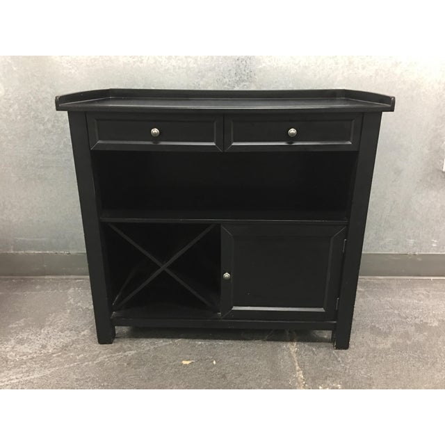 design plus gallery has a pottery barn sideboard buffet in a black finish the - Black Sideboard Buffet