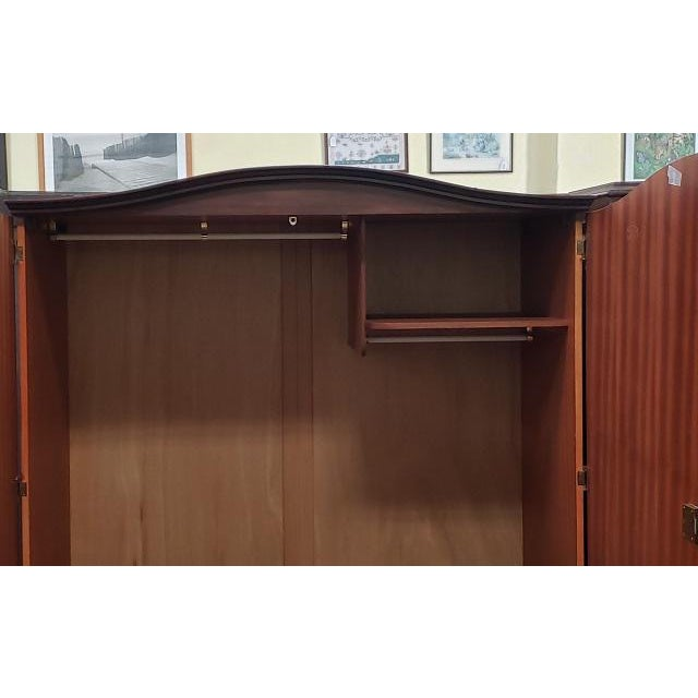 Classic English Regency Style Vintage Armoire C.1950s For Sale In San Francisco - Image 6 of 7