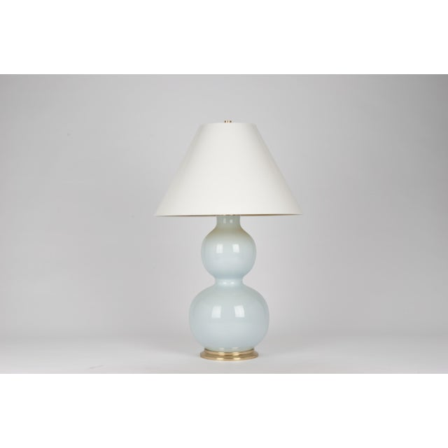 Contemporary Natalie Lamp in Powder Blue / Polished Brass - Christopher Spitzmiller for The Lacquer Company For Sale - Image 3 of 3