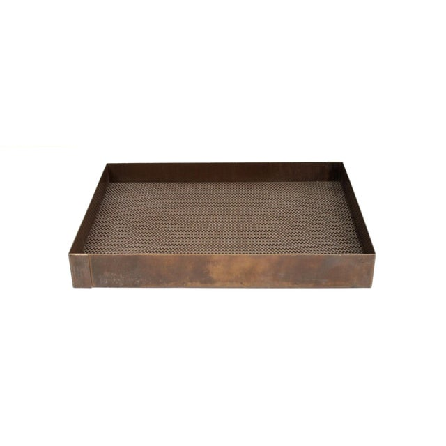 Architectural Bronze Mesh Letter Tray For Sale - Image 4 of 13