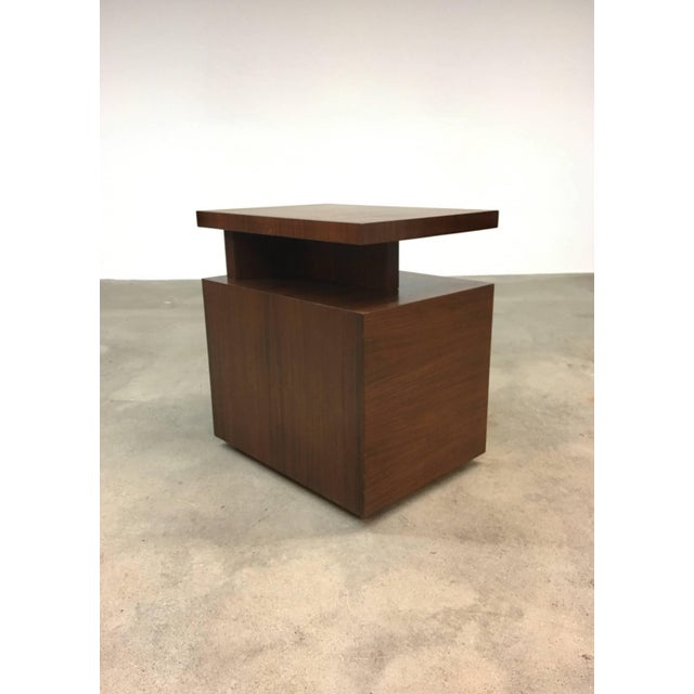 Pair of Andrew Szoeke End Tables in Rosewood For Sale In Providence - Image 6 of 9