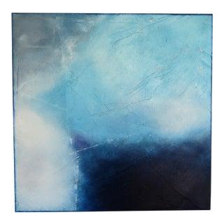 "C. Damien Fox 2020 ""Tempestuous Blue 2"" Oil on Panel For Sale"