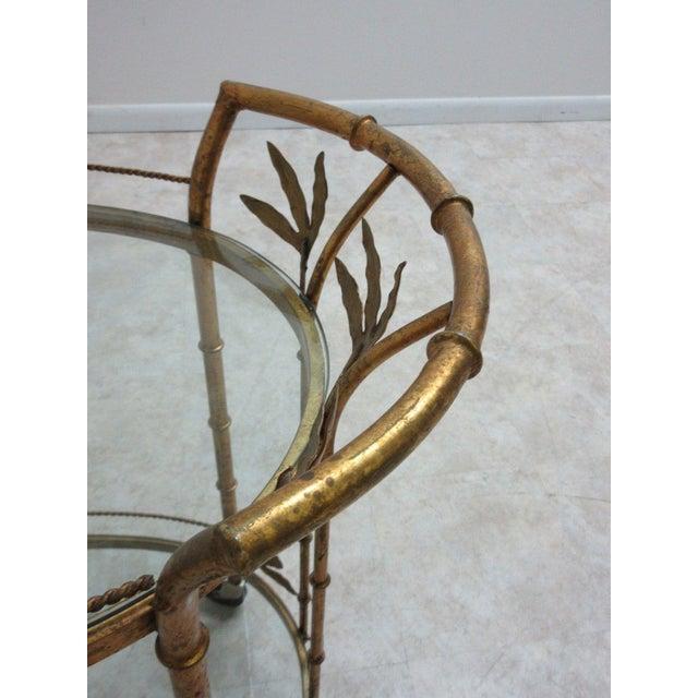 French Regency Faux Bamboo Tea Cart For Sale In Philadelphia - Image 6 of 10