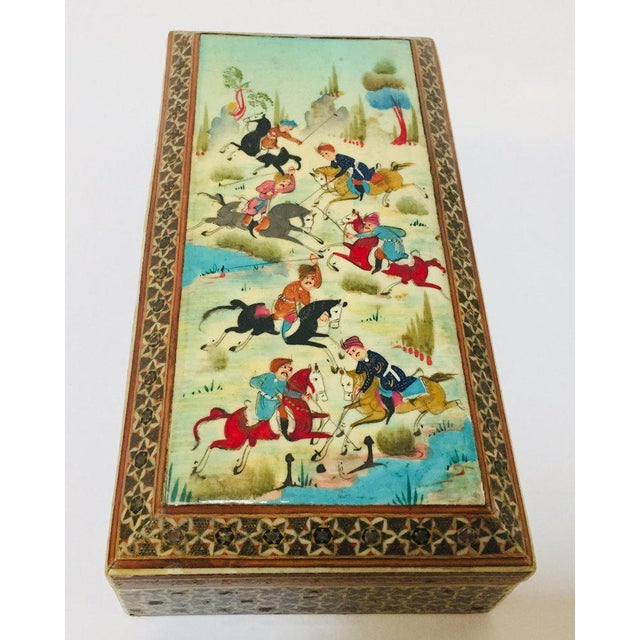 Micro Mosaic Indo Persian Inlaid Jewelry Trinket Box For Sale - Image 11 of 11
