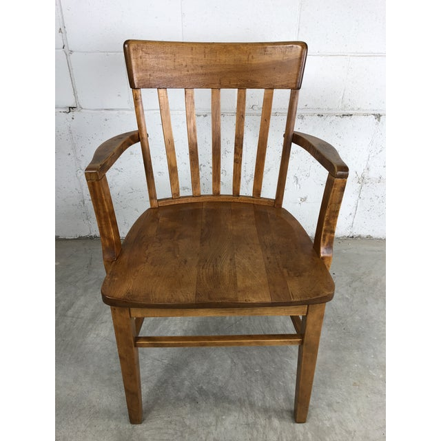 Outstanding Vintage Maple Wood Desk Chair With Arms Uwap Interior Chair Design Uwaporg