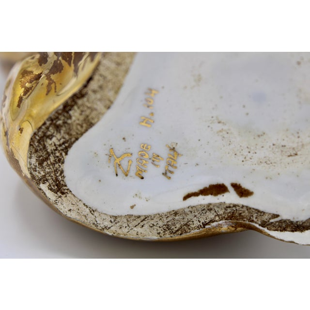 Mid-20th Century Italian Ceramic Shell Cachepot Planter For Sale - Image 11 of 13