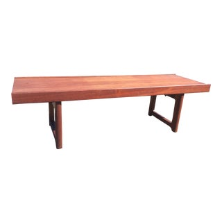 Bruksbo Teak Bench Torbjorn Agdal Danish Modern For Sale
